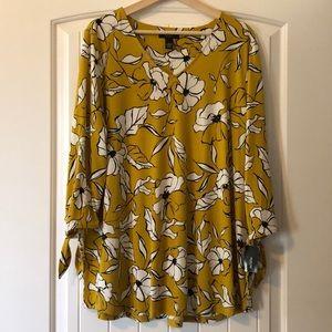 Alfani tunic blouse with 3/4 sleeves. NWT Sz. 1X